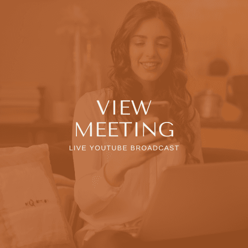 View Meeting - Live Youtube Broadcast